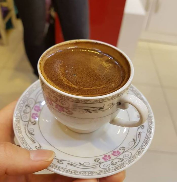 Ahhh…Turkish coffee!  Thick, sweet, topped with lovely foam.  It's a gift to a…