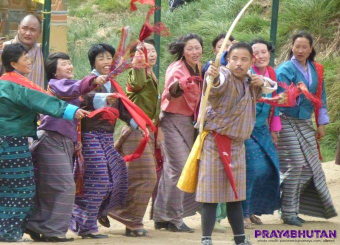 One of Bhutan's favorite ways to celebrate Losar (Lunar New Year) is with archer…