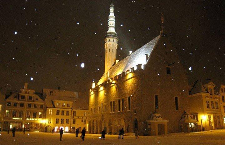 Praying for the church in Tallinn, Estonia….