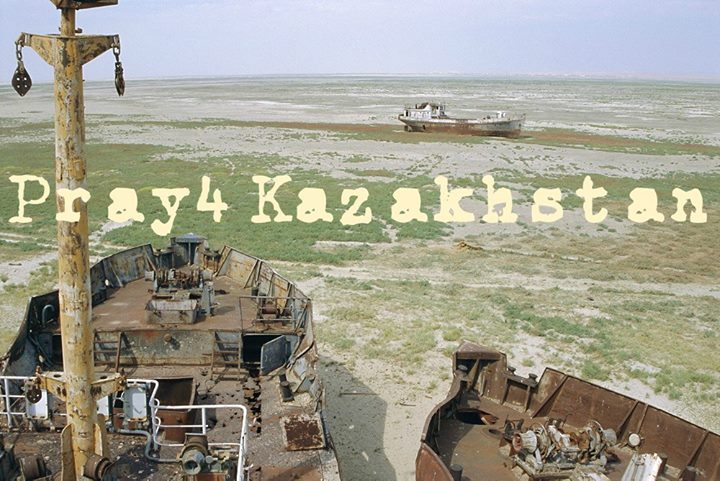 The Aral Sea in Kazakhstan was once the fourth largest lake in the world. Now, i…