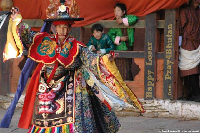 The Festival of Losar, the Lunar New Year, begins today in Bhutan. The people ce…