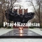 The picture shows a Soviet Monument to World War II heros in Panfilov Park in Al…